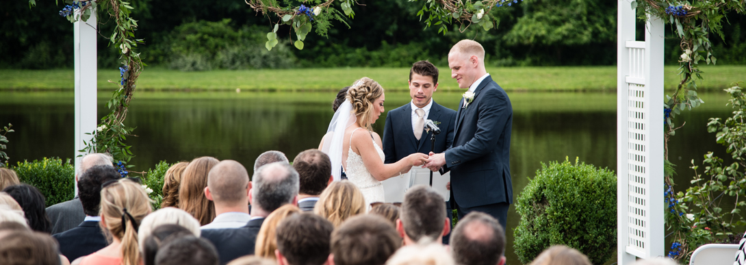 Lakeside Wedding Ceremony at the Hunterdon Hills Playhouse