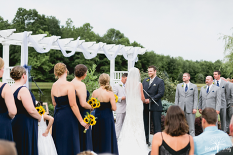 Outdoor Wedding Ceremony at the Hunterdon Hills Playhouse